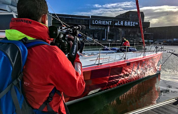 La SRF en tournage à Lorient